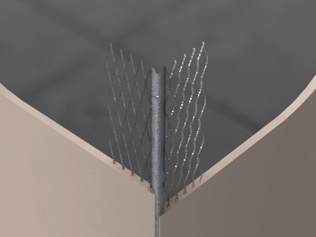 GAB Galvanised Angle Bead 45mm Wing