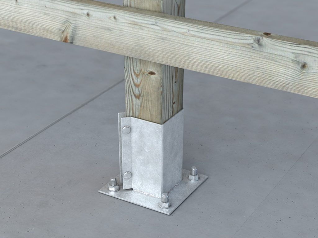 G/PS1 Galvanised Bolt Down Post Shoe