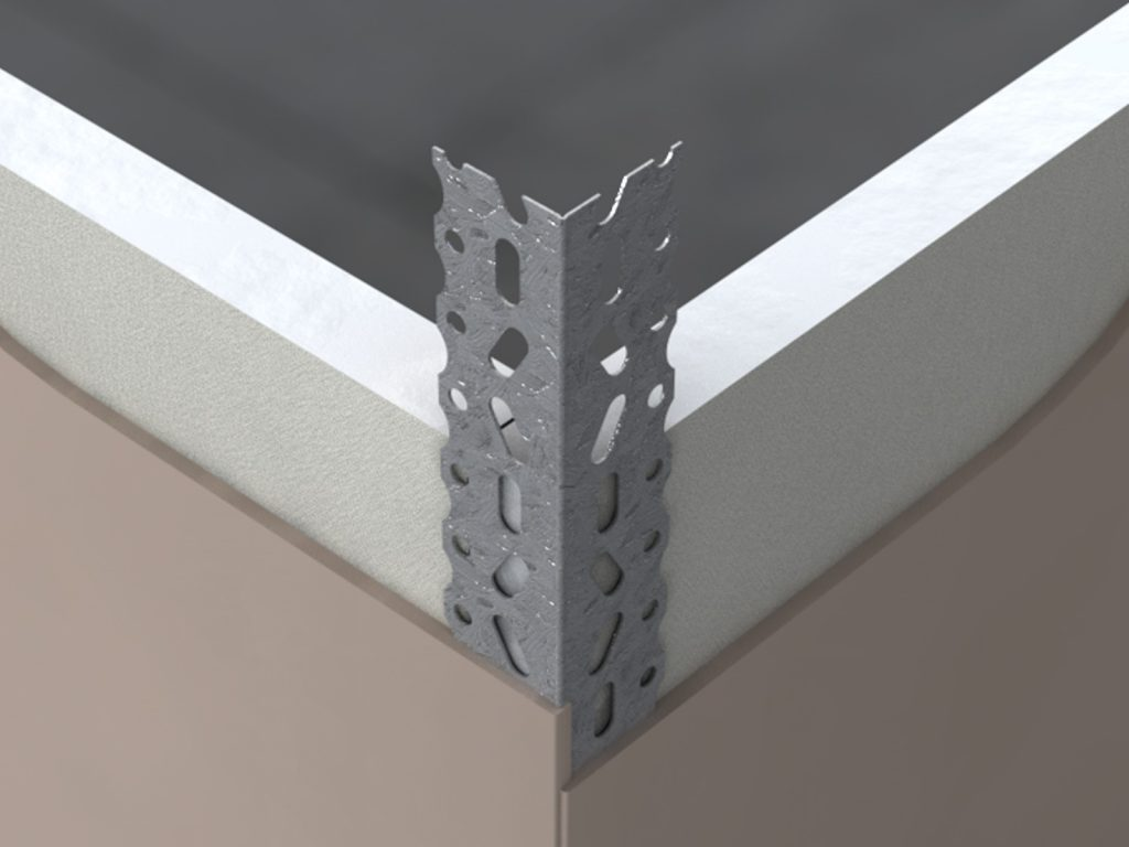 GPTCLW Galvanised Perforated Thin Coat Bead Wide Wing