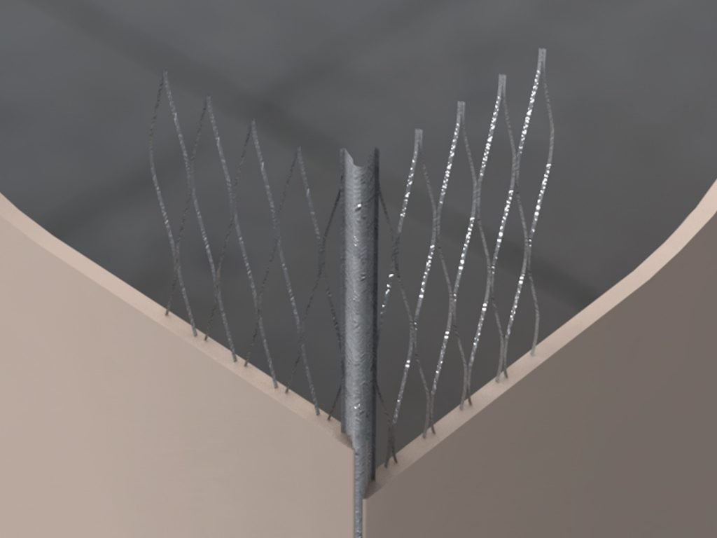 GWAB Galvanised Wide Angle Bead 63mm Wing