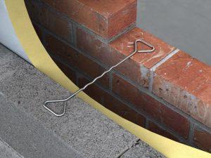 Masonry to masonry wall tie in situ