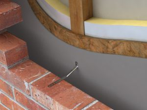 Timber frame wall ties in situ image