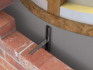 Channel and Strip Tie System for timber frame buildings - In situ Image
