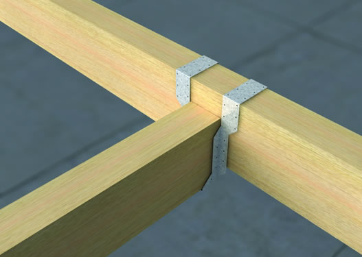 V81-Long Long Leg Timber to Timber Hangers